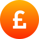 Pound Cryptocurrency Currency Icon