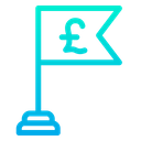 Business Achivement Pound Financial Success Icon
