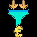 Pound Sorting Pound Filter Icon