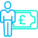 Pound Earning Cash Icon