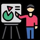 Presantation Presenter Presentation Board Icon