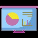 Whiteboard Presentation Board Icon
