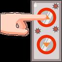 Elevator Hand Press Icon