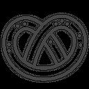 Pretzel Bread Food Icon