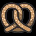 Pretzel Biscuit Food Icon
