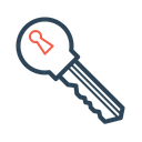 Private Key Bitcoin Icon