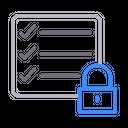 Lock Private Checklist Icon