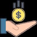 Receive Money Profit Icon