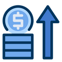 Money Coins Growth Icon