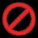 Forbidden Prohibited Prohibition Icon