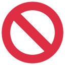 Prohibited Entry Forbidden Icon