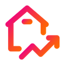 Property Graph Up Graph Analysis Icon