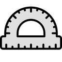 Protractor Scale Angle Measurement Icon