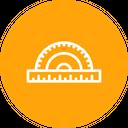 Protractor Measuring Instrument Icon