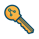 Public Key Bitcoin Icon