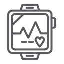 Pulsometer Heart Cardio Icon