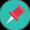 Tack Needle Clip Icon