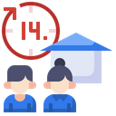 Quarantine Stayhome Home Icon