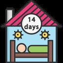 A Quarantine Quarantine House Quarantine Home Icon