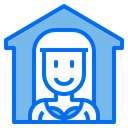 House Woman Stay At Home Icon