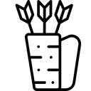 Quiver Bow Arrows Icon
