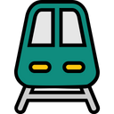 Travel Filled Railway Transport Icon