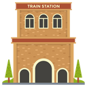 Railway Station Train Station Railroad Station Icon
