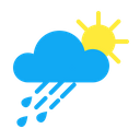 Sun Rain Atmosphere Climate Increasing Clouds Weather Forecast Icon
