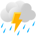 Clouds Lightning Rain Icon