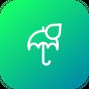 Rain Drop Umbrella Icon
