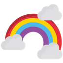 Rainbow Sky Cloud Icon