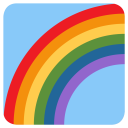 Rainbow Nature View Icon