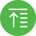 Raise Top Alignment Icon