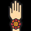 Rakhi On Hand Showcase Rakshabandhan Icon