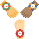 Rakhi On Hands Rakshabandhan Festival Icon