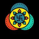 Rangoli Design Drawing Icon
