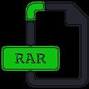 Rar File Compressed Icon