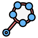 Shaker Kid And Baby Rattle Icon
