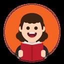 Book Reading Study Icon