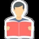 Boy Reading Man Icon