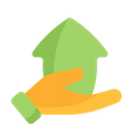 Hand House Sell Icon