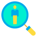 Searching For Employee Finding Employee Vacancy Icon
