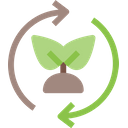 Leaves Recycle Ecology And Environment Icon