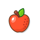 Red Apple Food Fruit Icon