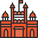 Red Fort Fort National Building Icon