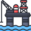 Refinery Petrochemicals Oil Rig Icon