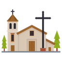 Christian House Church Religious Building Icon