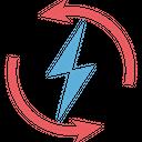 Renewable Energy Thunder Sustainable Icon