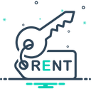 Rent key Icon