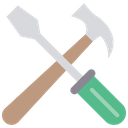 Hammer Screw Driver Hammer Screwdriver Icon